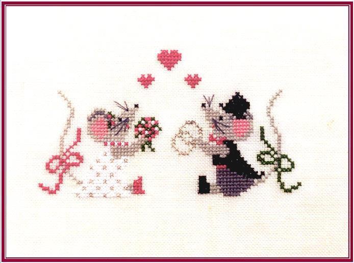 Hochzeitsm use kreuzstich stickvorlage zum sticken for Sticken vorlagen kostenlos