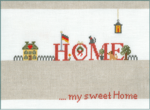 Home sweet home - Kreuzstich - Stickvorlage zum Sticken